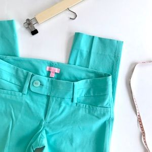 Lilly Pulitzer Teal Luxury Capri Pant